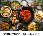 set of assorted chinese dishes... | Shutterstock . vector #1330337414