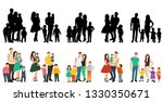 people with children  family ... | Shutterstock .eps vector #1330350671