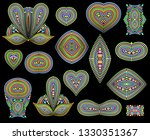 bright  ethnic cliche with dots ...   Shutterstock .eps vector #1330351367