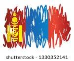 flag of mongolia. bright ...   Shutterstock .eps vector #1330352141