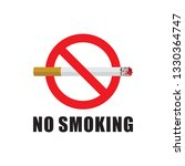 no smoking sign flat vector | Shutterstock .eps vector #1330364747