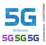 5g label set .high speed... | Shutterstock .eps vector #1330370084