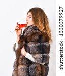 woman drink wine. girl fashion...   Shutterstock . vector #1330379927