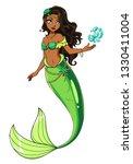 Cute Mermaid Vector Design....