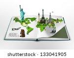 book of travel | Shutterstock . vector #133041905