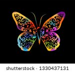 multicolored abstract... | Shutterstock .eps vector #1330437131