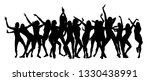 disco. dancing girls. vector... | Shutterstock .eps vector #1330438991