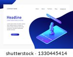 landing page template with... | Shutterstock .eps vector #1330445414