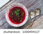 red borscht   clear beetroot... | Shutterstock . vector #1330454117