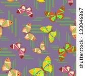 butterfly   seamless pattern | Shutterstock .eps vector #133046867