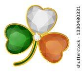 shamrock glossy badge on white... | Shutterstock .eps vector #1330480331