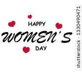happy womens day with heart on... | Shutterstock .eps vector #1330490471