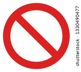 restriction sign red and white... | Shutterstock .eps vector #1330490477