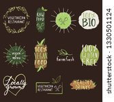 organic food eco products label ... | Shutterstock .eps vector #1330501124
