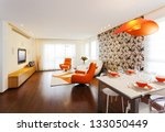 luxury modern living room | Shutterstock . vector #133050449