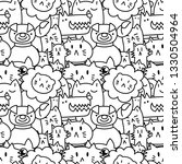 seamless pattern with cute... | Shutterstock .eps vector #1330504964
