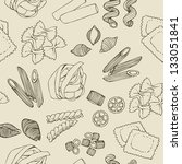seamless pasta pattern | Shutterstock .eps vector #133051841