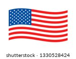 american waving flag on white... | Shutterstock .eps vector #1330528424