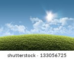 Sunny Natural Summer Backgroun...