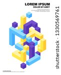 abstract geometric isometric...   Shutterstock .eps vector #1330569761