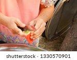 slices of fresh watermelon on... | Shutterstock . vector #1330570901