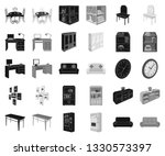 furniture and interior black... | Shutterstock .eps vector #1330573397