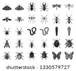 different kinds of insects... | Shutterstock .eps vector #1330579727