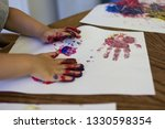 A Small Child's Handprint As...
