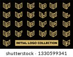 initial logo collection set... | Shutterstock .eps vector #1330599341