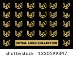 initial logo collection set... | Shutterstock .eps vector #1330599347
