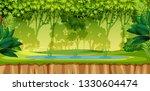a green jungle scene...   Shutterstock .eps vector #1330604474