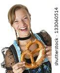 bavarian girl in traditional... | Shutterstock . vector #133060514
