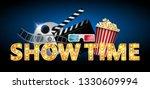 cinema concept  showtime banner ...   Shutterstock .eps vector #1330609994