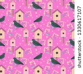vector cute seamless pattern... | Shutterstock .eps vector #1330617107