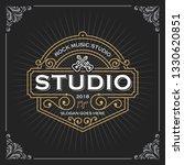 music studio logo. vintage... | Shutterstock .eps vector #1330620851