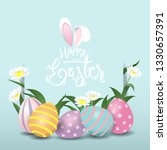 happy easter eggs sweet and kid ...   Shutterstock .eps vector #1330657391