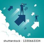 businessmen standing holding... | Shutterstock .eps vector #1330663334