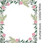 spring floral frame   Shutterstock .eps vector #1330678904