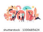 job  coral poster with people... | Shutterstock .eps vector #1330685624
