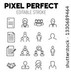 hr related vector icon set.... | Shutterstock .eps vector #1330689464