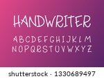 trendy font. minimalistic style ...   Shutterstock .eps vector #1330689497