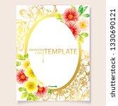 romantic wedding invitation...   Shutterstock .eps vector #1330690121