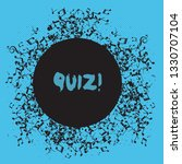 writing note showing quiz.... | Shutterstock . vector #1330707104
