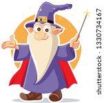 Funny Cartoon Wizard Magician...