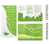 vector brochure layout design... | Shutterstock .eps vector #133074101