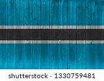 botswana flag painted on old...   Shutterstock . vector #1330759481