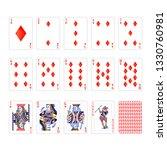 full set of diamonds suit... | Shutterstock .eps vector #1330760981