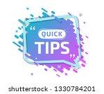 quick tips  helpful tricks ... | Shutterstock .eps vector #1330784201