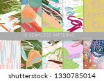 collection of seamless patterns.... | Shutterstock .eps vector #1330785014