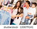 Family Shopping For Clothes An...